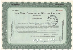 New York, Ontario and Western Railway - Merrill Lynch