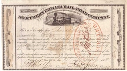 Northern Indiana Rail-Road Co  - 1850s - Rare