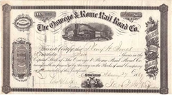 The Oswego & rome Rail Road Co - 1860s