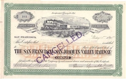 The San Francisco and San Joaquin Valley Railway - Signed by Claus Sp***
