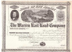 The Warren Rail-Road Company - 1850s