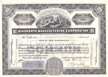 Ainsworth Manufacturing Corporation - Black
