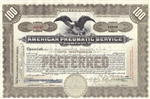 American Pneumatic Service Company - 100 Shares