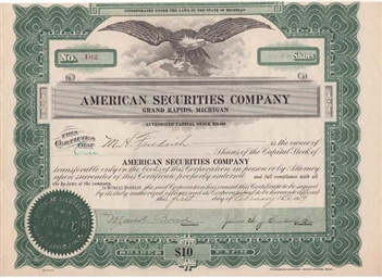 American Securities Company - 1919