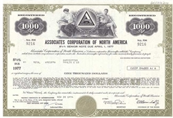 The Associates Corporation of North America Bond