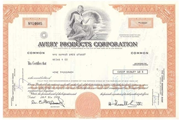Avery Products Corporation - Orange