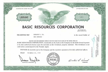 Basic Resouces Corporation - 1960s