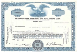 Bradford Speed Packaging and Development Corp - Blue
