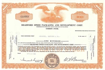 Bradford Speed Packaging and Development Corp -Orange