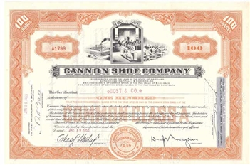 Cannon Shoe Company - 1955