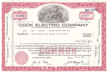 Cook Electric Company - Red