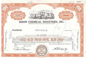 Dixon Chemical Industries Inc 100 sh