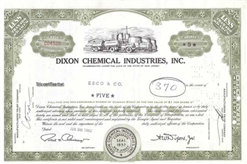Dixon Chemical Industries Inc - Green
