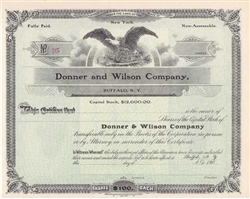Donner and Wilson Company 1900s