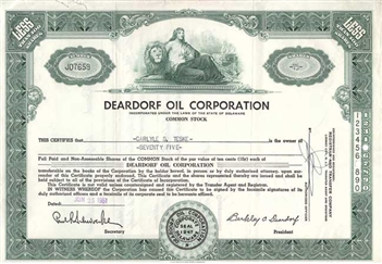Deardorf Oil Corp - Green