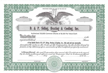D. & P. Siding, Heating & Cooling Inc.