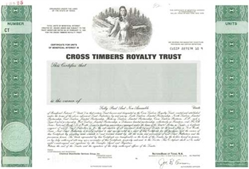 Cross Timbers Royalty Trust Specimen Stock Certificate