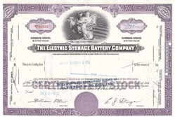 The Electric Storage Battery Company - Purple