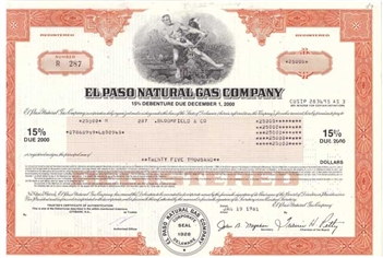 El Paso Natural Gas Company Bond