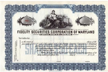 Fidelity Securities Corporation of Maryland
