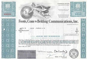 Foote, Cone & Belding Communication, Inc. -Blue