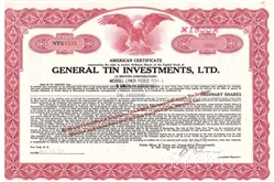 General TIN Investments, LTD - Red