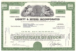 Liggett & Myers Inc. (Tobacco) - Green