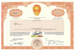 Stan Lee Media Stock Certificate