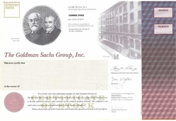 The Goldman Sachs Group, Inc. Specimen Stock Certificate