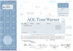 AOL Time Warner Stock Certificate