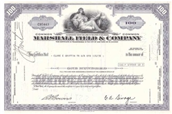 Marshall Field & Co  Stock Certificate - Macy's