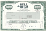 Bull & Bear Group, Inc. Stock Certificate