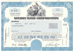Sperry Rand Corporation - Blue