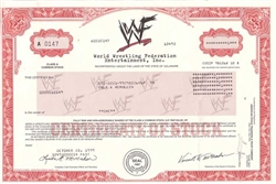 World Wrestling Federation (WF) Stock Certificate