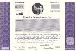 Harrah's Entertainment, Inc. Stock Certificate (casino)