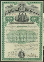 State of Louisiana Bond - 1892 - $1,000
