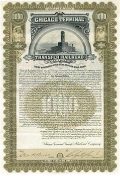 Chicago Terminal Transfer Railroad Company Bond - 1897