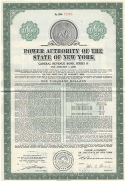 Power Authority of the State of New York Bond
