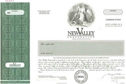 New Valley Corp Specimen Stock Certificate