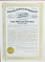 1893 State of Montana Gold Bond