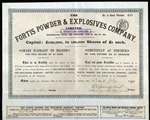 The Fortis Powder & Explosives Company Share Warrant Certificate - 1890