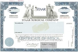 Staar Surgical Co. Specimen Stock Certificate