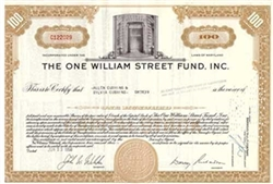 The One William Street Fund, Inc.