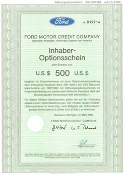 German Ford Motor Credit Company