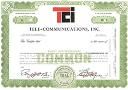 Tele-Communications, Inc. (TCI) Specimen Stock Certificate - Green
