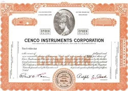 Cenco Instruments Corporation Specimen Stock Certificate