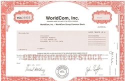 WorldCom, Inc. Stock Certificate