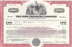Dow Chemical Bond Certificate