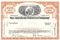 The American Tobacco Company Stock Certificate - Orange