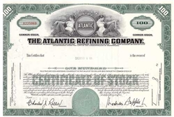 The Atlantic Refining Company Stock Certificate - Green